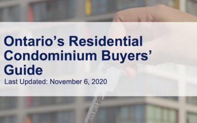 Ontario Residential Condominium Buyers' Guide